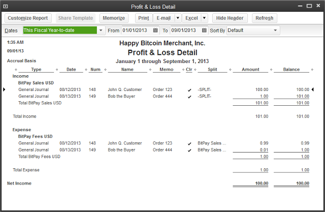 Quickbooks Bitcoin Income Statement