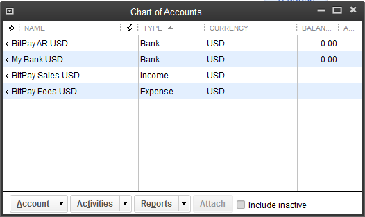Importing Bitcoin Sales into Quickbooks – BitPay Support